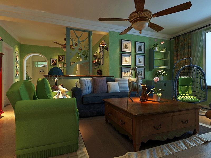 田园 三居 客厅设计图片来自城市人家石家庄店在翰林观天下美式田园风格三室两卫的分享