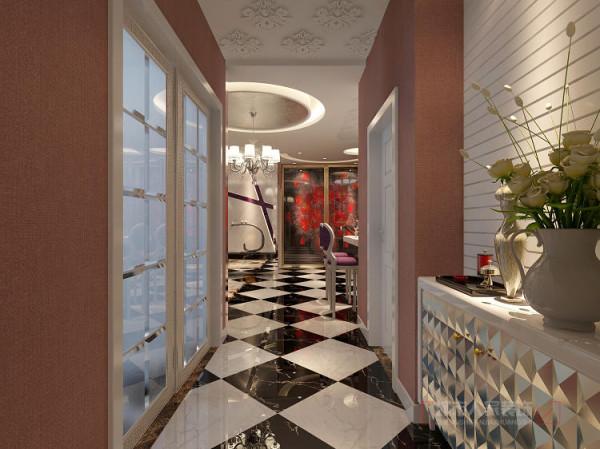 部分的端景墙都考虑用工艺加工造型推拉门来表现。既私密,又有隐形效果和整体的景观效果,让整体的客厅表现出主人的个性的与众不同。