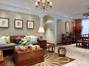 天山星城三室两厅新中式风格