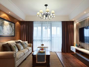 134平浦东美式精品婚房公寓设计