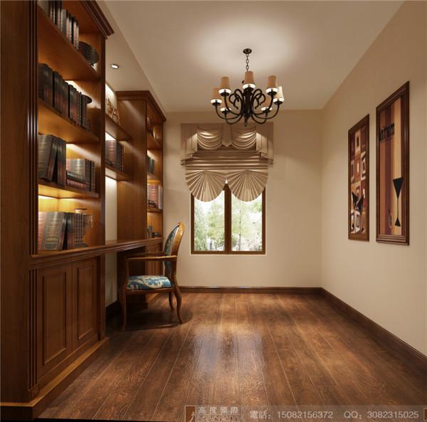 北欧知识城书房细节效果图-成都高度国际装饰