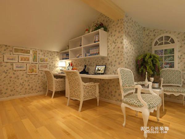 田园 地中海 自然 小清新 书房 书房图片来自泥巴公社设计师李轶在清新田园 湘瑞家园的分享