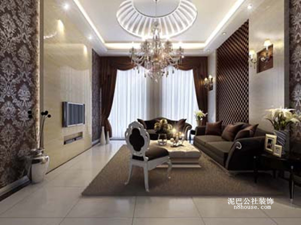 古典欧式 贵族 奢华 别墅 客厅 客厅图片来自泥巴公社设计师戴鲁君缘在融科檀香山的分享