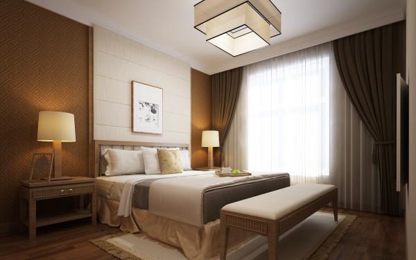 这个卧室也被设计师特意安排在远离繁华公路的南侧,更加的安静惬意,整个空间构成含蓄,秀气,依然,朴实,清新的空间主调,透着淡淡的怀旧气氛。