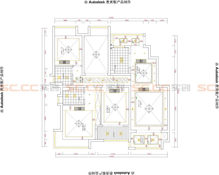 简欧 四居 装修 实创装饰 户型图图片来自南京实创装饰夏雨荷在大发燕澜湾142平简欧风格的分享