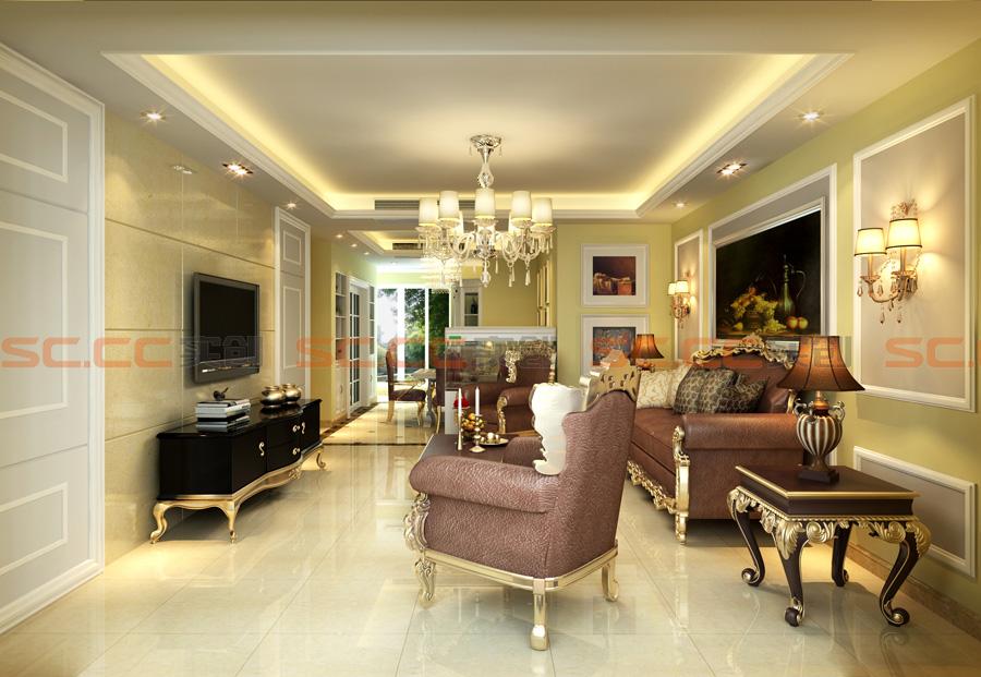简欧 四居 装修 实创装饰 客厅图片来自南京实创装饰夏雨荷在大发燕澜湾142平简欧风格的分享