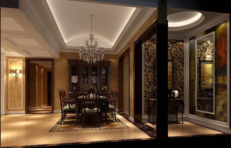 托斯卡纳 四居 田园 欧式 混搭 收纳 白领 室内装修 餐厅图片来自高度国际装饰王伟在金色漫香苑—托斯卡纳风格效果图的分享