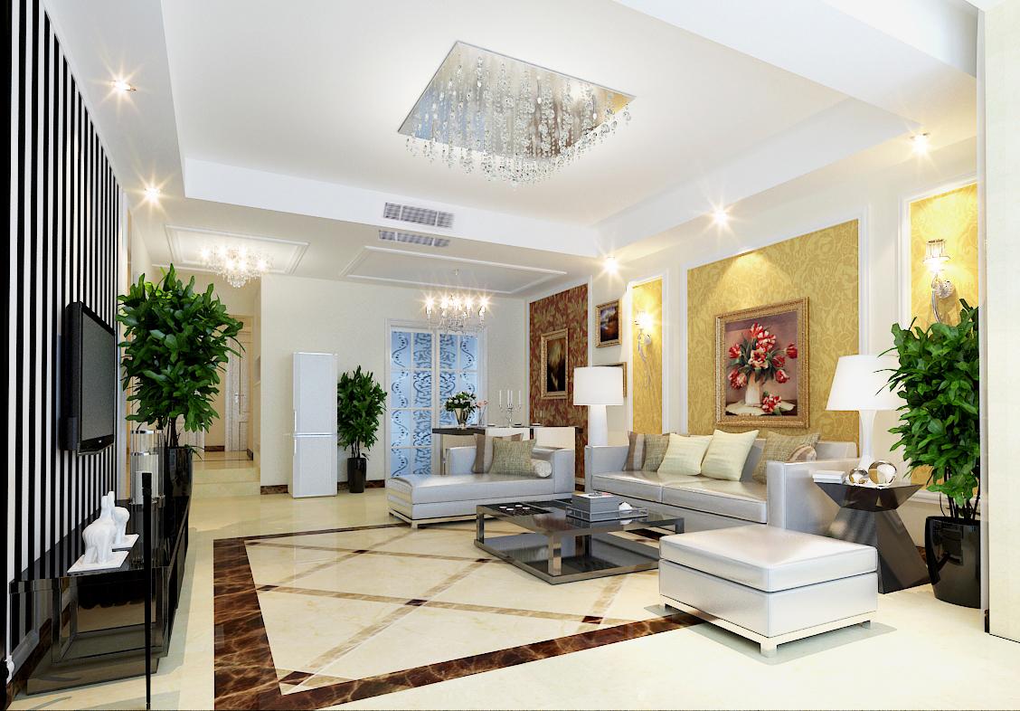 小资 现代简约 三室二厅 阿尔卡迪亚 业之峰案例 客厅图片来自石家庄业之峰装饰虎子在阿尔卡迪亚130平米现代风格的分享