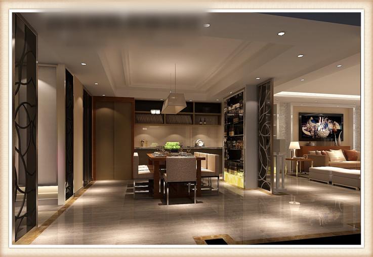 简约 现代 叠拼 餐厅图片来自高度国际装饰设计集团凌军在金隅翡丽300平米现代简约风格的分享