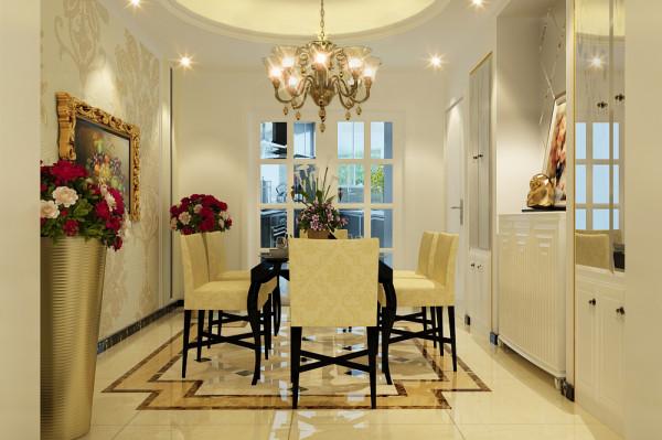 餐厅的设计时干净利落、没有繁杂的设计,茶镜的使用增加了空间感,几何造型的餐桌椅简单时尚。
