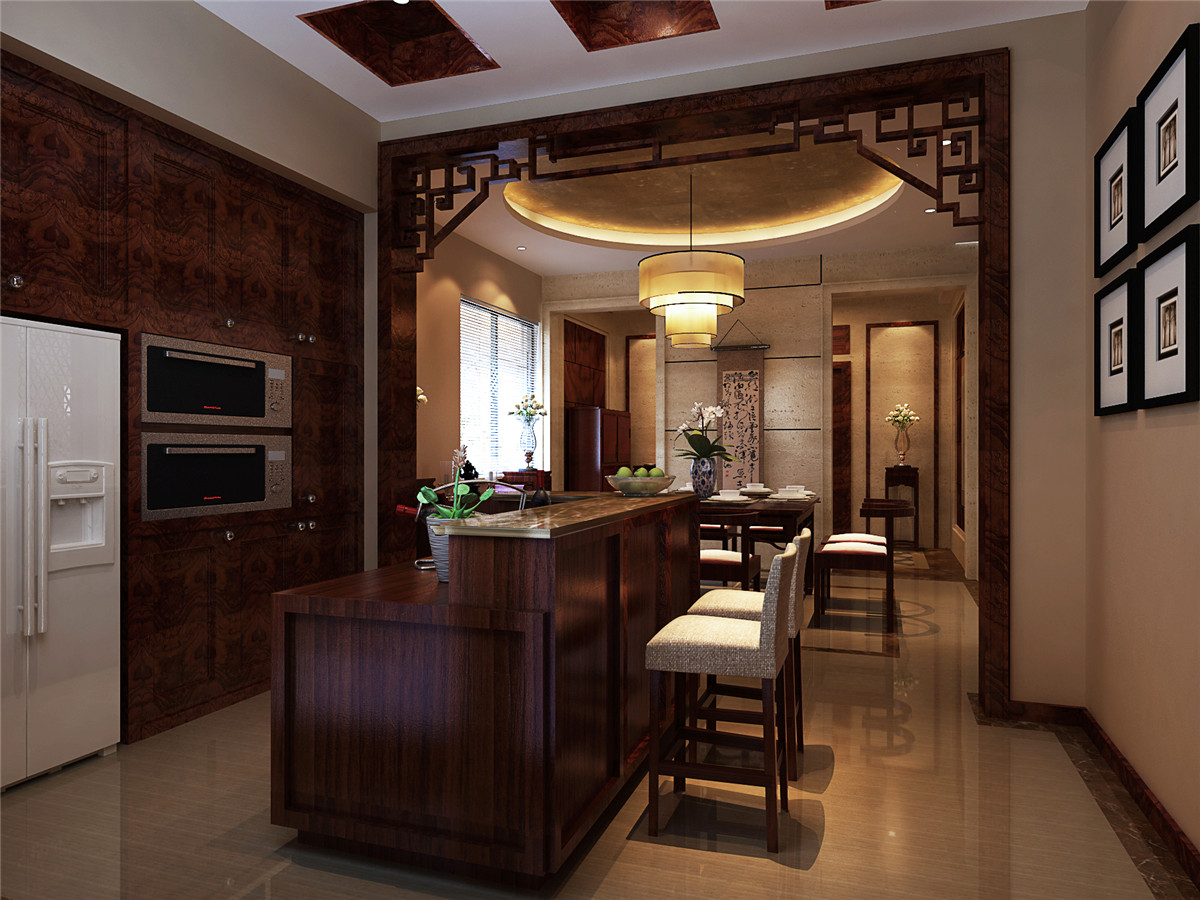 中式风格 别墅 新房装修 餐厅图片来自实创装饰上海公司在中式风格别墅装修效果图的分享