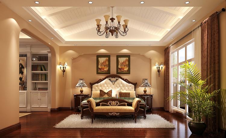 欧式 别墅 卧室图片来自高度国际装饰设计集团凌军在龙湖香醍溪岸300平米欧式风格的分享