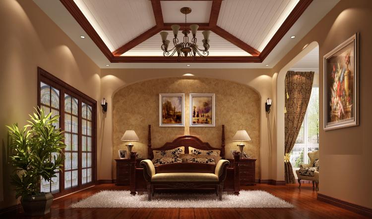 托斯卡纳 别墅 卧室图片来自高度国际装饰设计集团凌军在龙湖香醍溪岸270平米托斯卡纳的分享