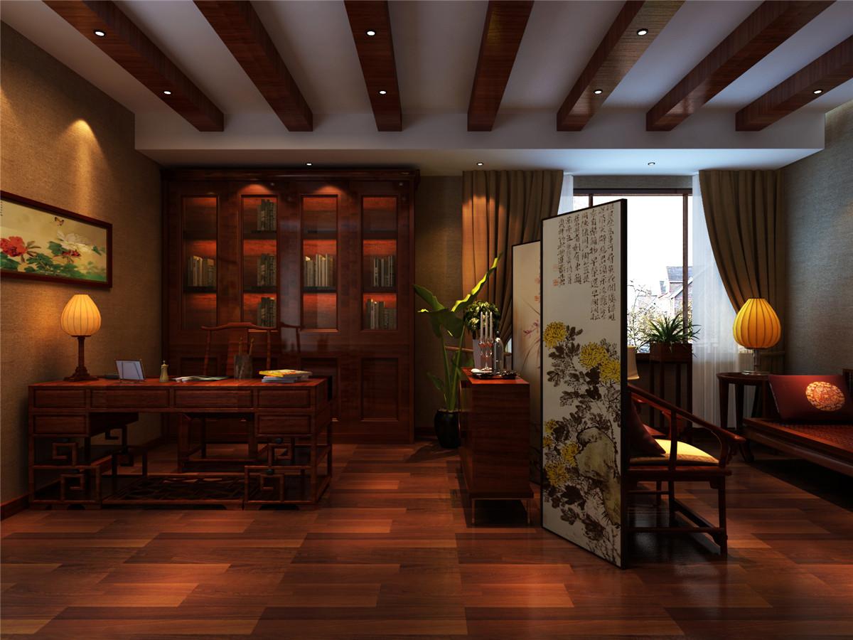中式风格 别墅 新房装修 书房图片来自实创装饰上海公司在中式风格别墅装修效果图的分享