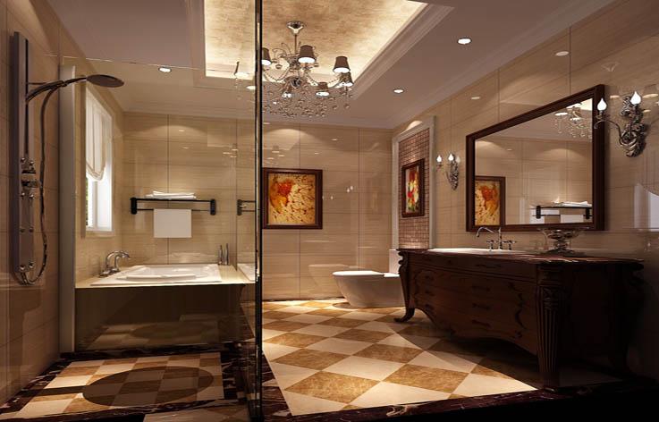 托斯卡纳 四居 田园 欧式 混搭 收纳 白领 室内装修 卫生间图片来自高度国际装饰王伟在金色漫香苑—托斯卡纳风格效果图的分享