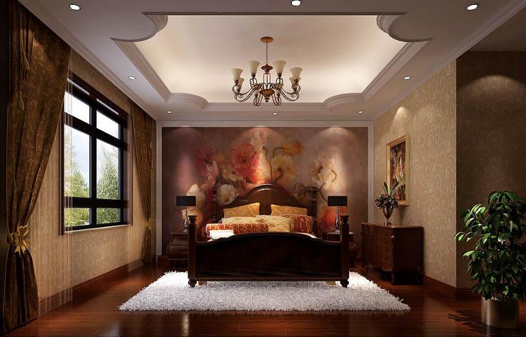 托斯卡纳 四居 田园 欧式 混搭 收纳 白领 室内装修 卧室图片来自高度国际装饰王伟在金色漫香苑—托斯卡纳风格效果图的分享
