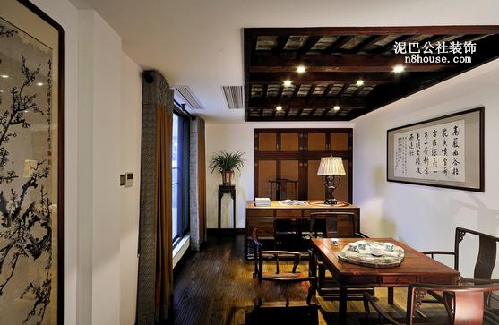 现代中式 简单 素雅 二居 书房 书房图片来自泥巴公社设计师戴鲁君缘在现代中式 中海国际的分享