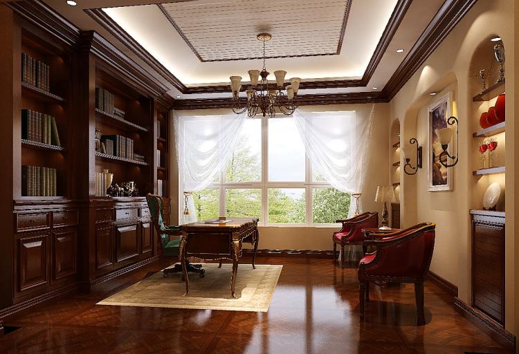 托斯卡纳 顶层带阁楼 书房图片来自高度国际装饰设计集团凌军在鲁能七号院185平米托斯卡纳的分享