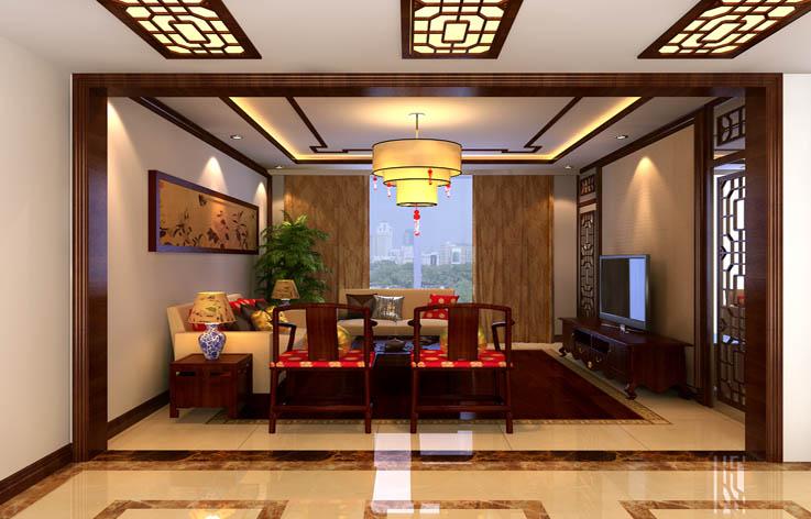 客厅图片来自高度国际装饰王伟在东湖湾---新中式风格效果图的分享