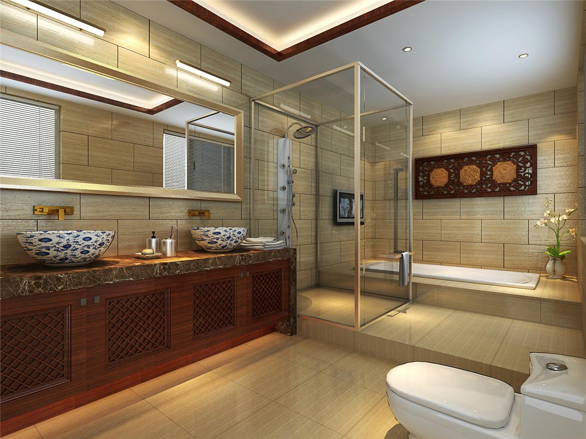 中式风格 别墅 新房装修 卫生间图片来自实创装饰上海公司在中式风格别墅装修效果图的分享