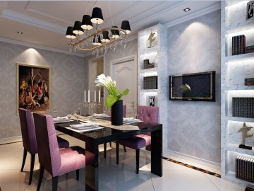紫台一品浪漫简欧三房装修设计