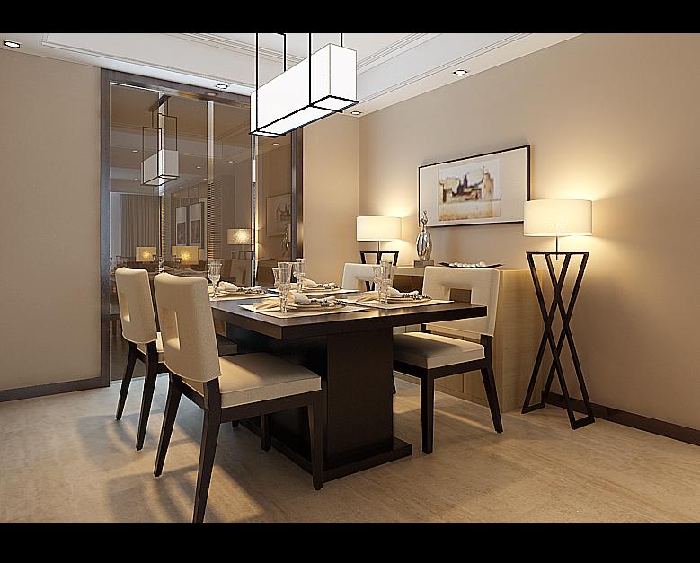 简约 三居 新房 餐厅图片来自实创装饰上海公司在现代木色风格设计三居室装修的分享