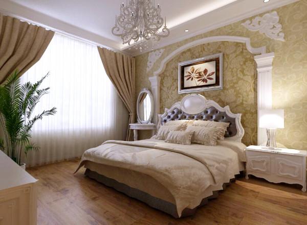 大面积的飘窗配上素白的纱帘,轻巧浪漫,绝佳的采光让卧室中的下午茶时光更加惬意美好。