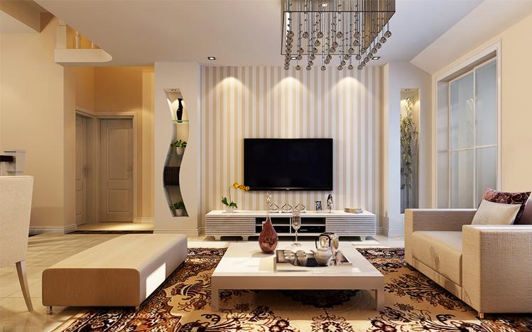 客厅图片来自大业美家装饰在丹石街区100平复式装修设计的分享