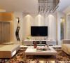 客厅简单温馨 ,暖色的大花纹地毯,条纹状的壁纸,温馨徜徉在整个空间。