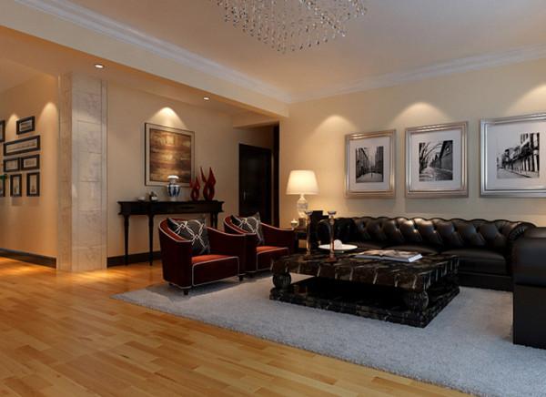 设计理念:简约  明快   低调   富有现代感是整个客厅的设计中心,实用   生活化  是设计的原则。