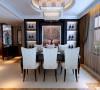 设计理念:光线柔和,色彩应素雅,墙壁上可适当挂些风景画,餐厅位置应靠近厨房。 亮点:餐厅上方点缀若干风景画;餐边柜简约大气,兼具收纳和装饰功能。