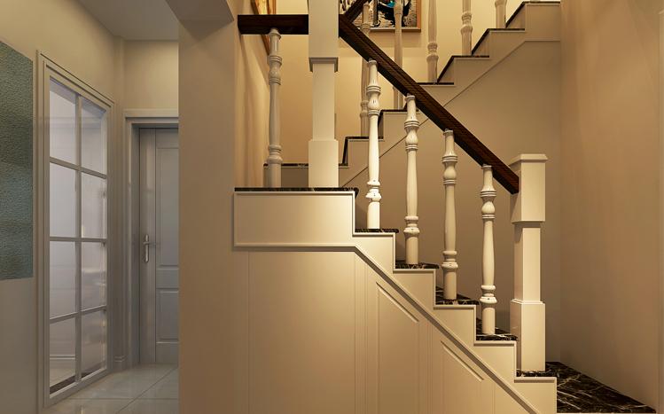 楼梯图片来自大业美家装饰在丹石街区100平复式装修设计的分享