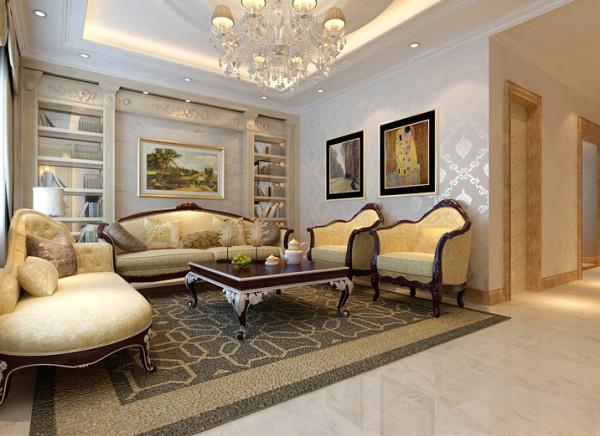设计理念:客厅的气氛既要能展现接待宾客大器,还要让访客为之惊的第一印象。