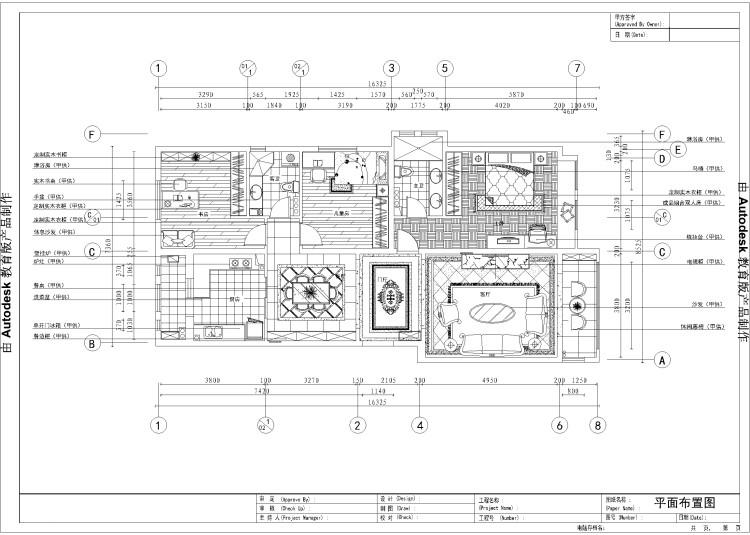 欧式 三居 公寓 户型图图片来自高度国际装饰设计集团凌军在旭辉御府138平米欧式风格的分享