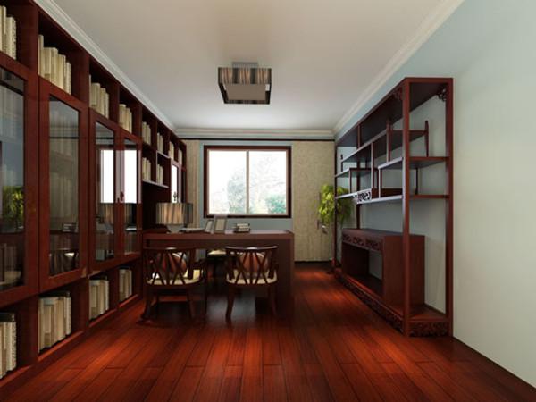书房的设计也是使用了红木的实木色调为基色,空间典雅而又安静。满足了客户的精神需求。
