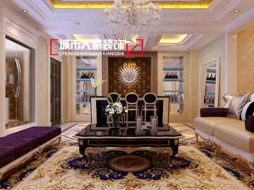 东龙壹湾270平米简欧设计案例