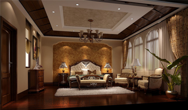 卧室 托斯卡纳风格 混搭风格 收房装修 成都高度国际 别墅装修