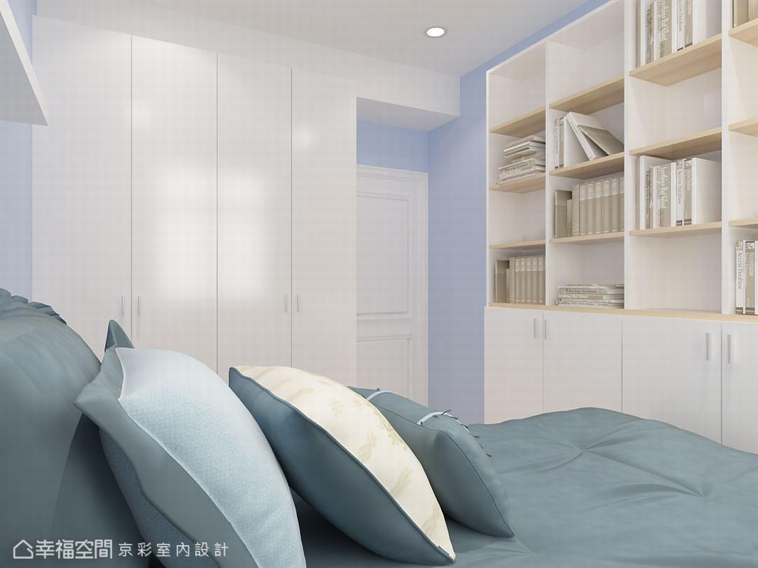 儿童房图片来自幸福空间在106平多角柜体 放大生活视野的分享