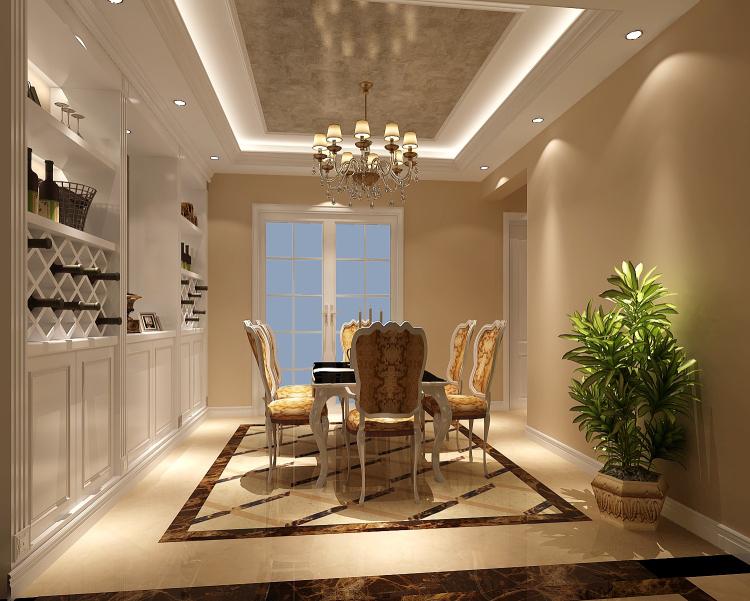 欧式 三居 公寓 餐厅图片来自高度国际装饰设计集团凌军在旭辉御府138平米欧式风格的分享