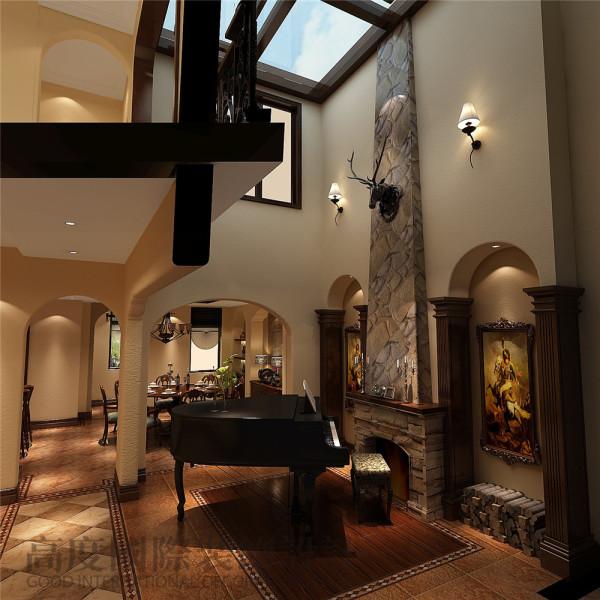 玄关 托斯卡纳风格 混搭风格 收房装修 成都高度国际 别墅装修