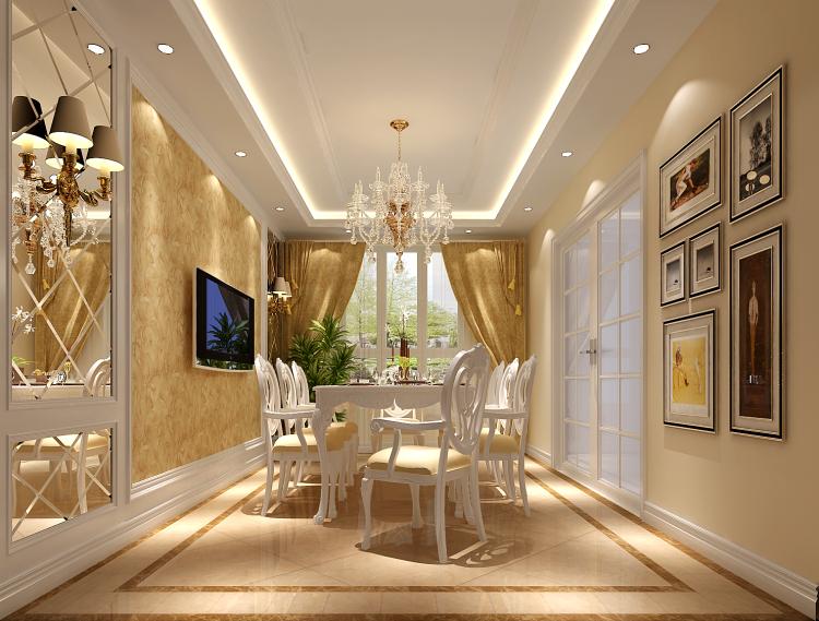 欧式 简约 复式 餐厅图片来自高度国际装饰设计集团凌军在正源尚峰尚水151平米简欧的分享