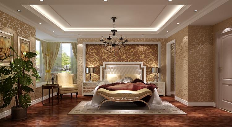 欧式 简约 复式 卧室图片来自高度国际装饰设计集团凌军在正源尚峰尚水151平米简欧的分享