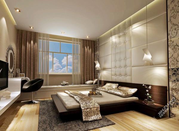 卧室:选材上也多取舒适、柔性、温馨的设计风格,更加没有选择过多的造型。