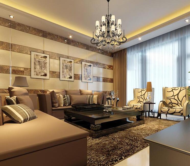客厅图片来自美巢装饰在九龙城130平现代简约的分享