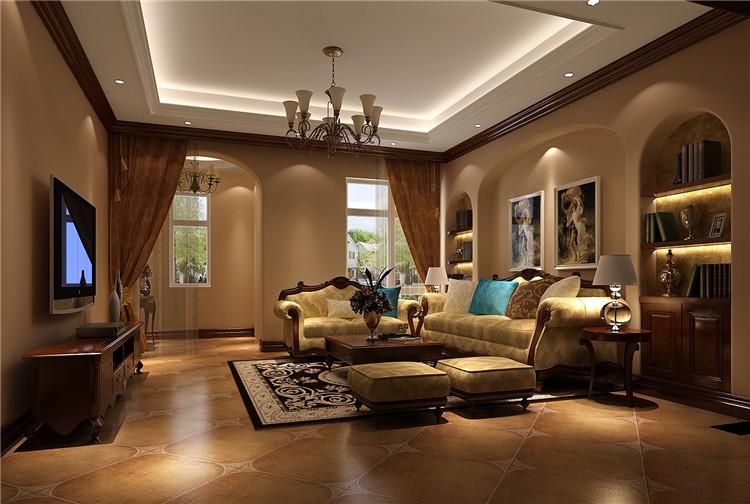 托斯卡纳 别墅 客厅图片来自高度国际装饰设计集团凌军在红杉溪谷300平米托斯卡纳的分享