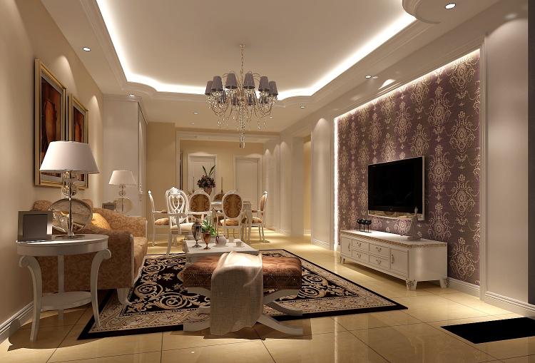 欧式 简约 三居 客厅图片来自高度国际装饰设计集团凌军在长滩壹号120平米简欧的分享