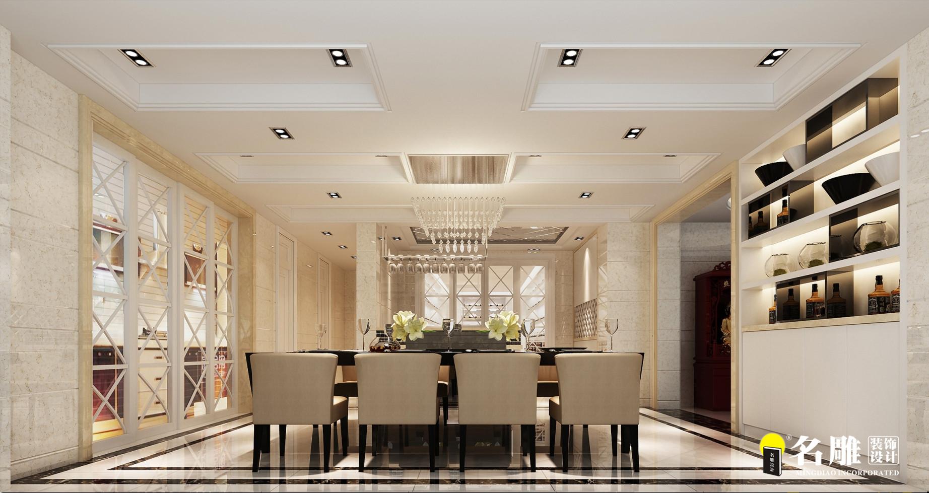 现代 复式别墅 精致 4厅 12室 11卫 餐厅图片来自名雕装饰设计在简约不简单的分享