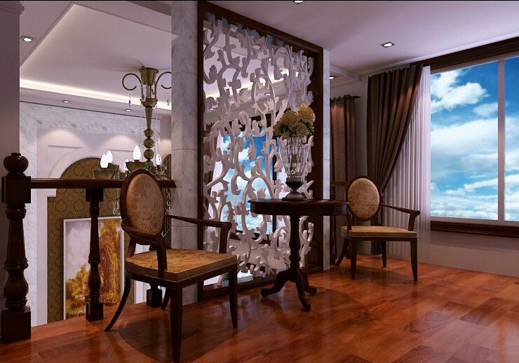 客厅图片来自美巢装饰在九龙城80平中式古典风格的分享