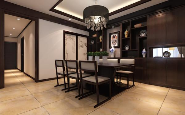 餐厅以简单为主,方形桌椅更是体现出了中式宫殿