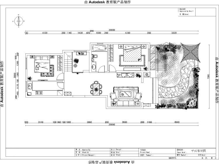 现代 三居 户型图图片来自高度国际装饰设计集团凌军在长滩壹号150平米现代风格的分享